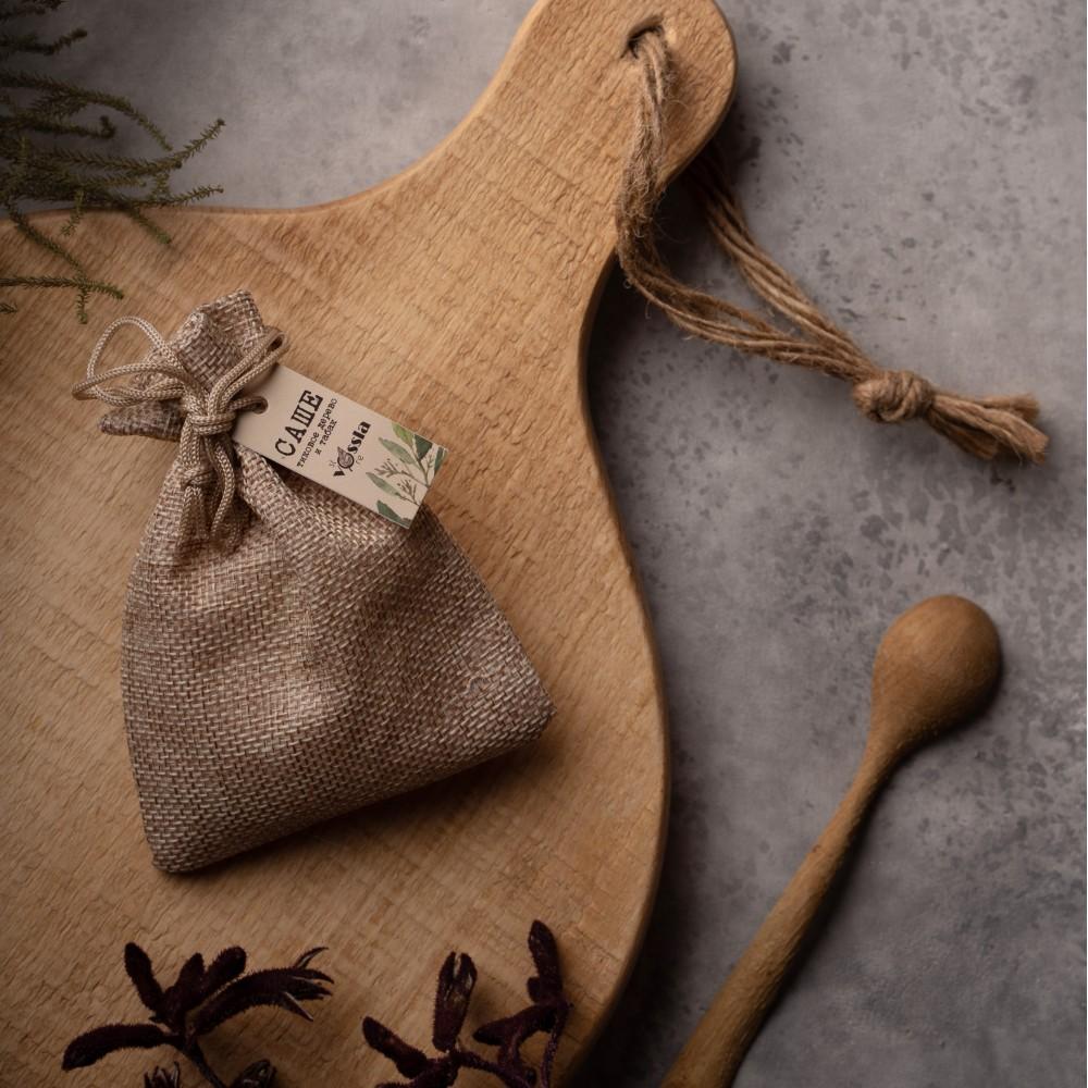 """Саше """"Тиковое дерево и табак"""", ароматизированный соевый воск в мешочке"""