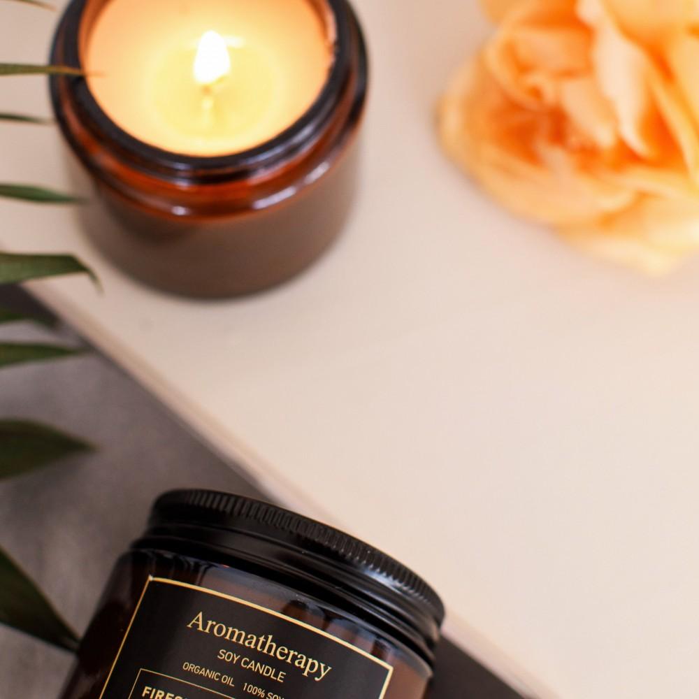 """Соевая аромасвеча """"Агава и хризантема"""", в темной банке 120 ml"""