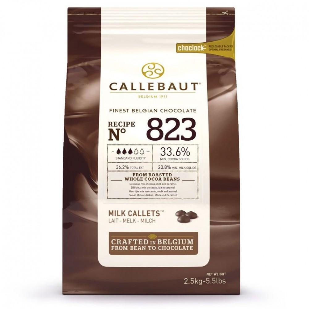 Бельгийский молочный шоколад CALLEBAUT 823 (2,5кг)
