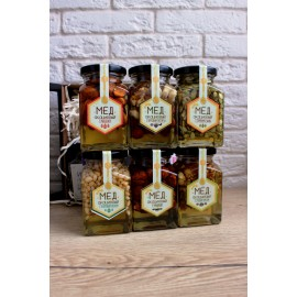 Акациевый мёд с цельным миндалем (250 мл)