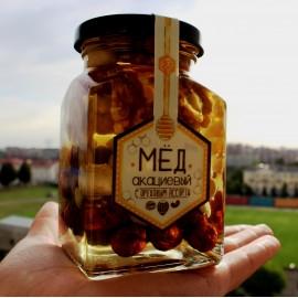 Акациевый мёд с ореховым ассорти (250 мл)
